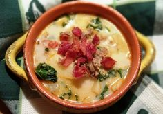 Much like Olive Gardens Zuppa Toscano soup. Made it and it was very good. Quite rich so I wouldn't make it very often but nice creamy treat.