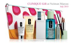 A complimentary Clinique gift now available at Neiman Marcus. Min spend: $50 http://clinique-bonus.com/other-us-stores/