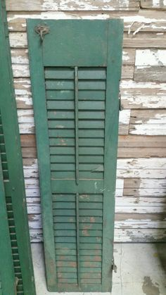 Antique Dark Green Window Shutter