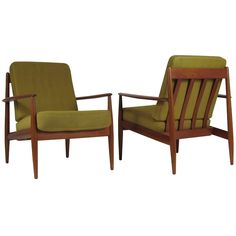 Pair Of Grete Jalk Lounge Chairs For France And Sons Denmark