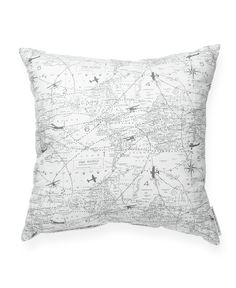 Aviation Pattern Decorative Throw Pillow//