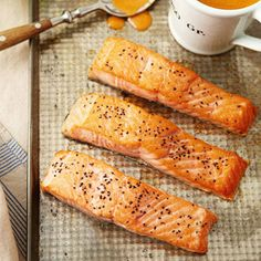 Roast Salmon with Thai Red Curry Sauce  A sweet and spicy sauce kicks up this salmon recipe.