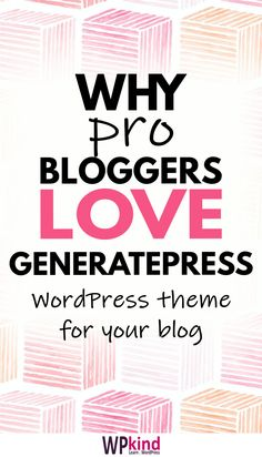 Blogging tip - GeneratePress is the best WordPress theme for your blog! GeneratePress is fast, lean, and SEO friendly. GeneratePress is highly adaptable, you can modify it to your heart's content, without having to make a child theme. GeneratePress is a FREE WordPress theme for your blog. It is the theme that I use on my own blog. #bloggingtips #bloggingforbeginners #wordpressforbeginners #wordpress #wordpressthemes #wordpressthemesfree #wordpressthemeblog Wordpress For Beginners, Blogging For Beginners, Best Free Wordpress Themes, Wordpress Free, Seo Basics, Wordpress Website Design, Blog Layout, Wordpress Template, Blog Tips
