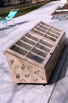 building a cold frame with old windows