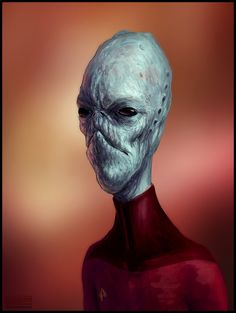 star trek aliens | Star Trek Alien Portrait - Speedpainting