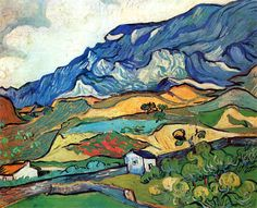 Vincent van Gogh - Les Alpilles, Mountain Landscape Near South-Reme (1889).