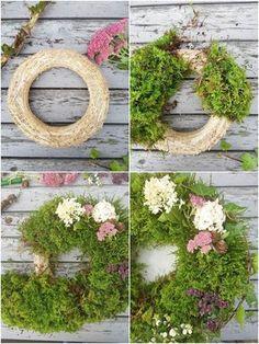 DIY Mooskranz einfach selbstgemacht: Herbstdeko, Deko für den Herbst, Kranz, Kränze selbermachen, Kranz aus Moos