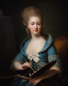 Madame Louis Filleul de Besne, née Anne-Rosalie Bocquet (Paris, 1752 - Paris, 1794). Portrait par elle-même, vers 1779, huile sur toile. Collection particulière.