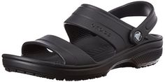 crocs Unisex Classic Dress Sandal Black 10 M US ** Check this awesome product by going to the link at the image.