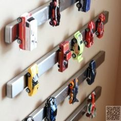 Creative Storage Solutions For Messy Kids Toys 2019 Such a great idea for a little boy's room!