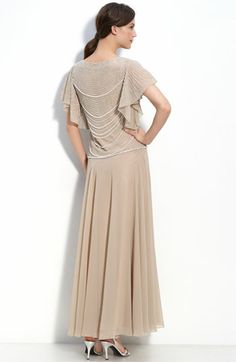 J Kara Beaded Mock Two Piece Crepe Dress available at #Nordstrom