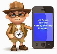 20 Apps for the Family History Traveler | The Armchair Genealogist #genealogy #familyhistory