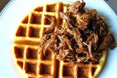 Paleo Pulled Pork Sliders with Sweet Potato Waffle Buns