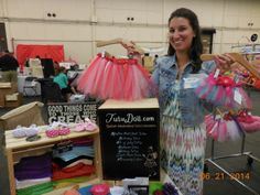 Charlene Bernhardt holding a custom TUTU. They make them for pets too! TUTUDOLL.COM