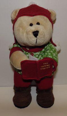 Starbucks Bearista Teddy Bear Plush Stuffed Animal 2010 The Mouse Writer Winter