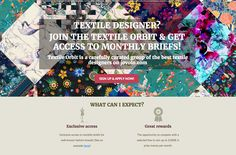 Textile designer? Want to get the chance to work on monthly textile design briefs with the possibility to win up to 5,000€ each month? Apply to the Textile Orbit here: http://textile-orbit-apply-to-join.jovoto.com/