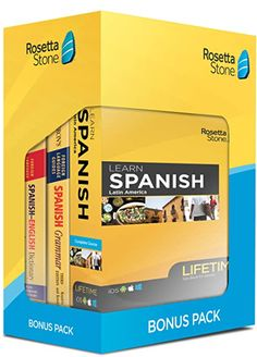 """Everything you need to learn Spanish in one box Rosetta Stone lifetime subscription: Access our award-winning program from the cloud. It syncs across desktop, mobile, and tablet for convenient learning Barron's grammar Guide: Learn essential grammar tips, such as verb agreements and sentence structure Barron's Dictionary: Look up important definitions from this trusted source Lifetime of the Product: This """"Lifetime"""" product will be supported for its life, meaning as long as Rosetta Stone… Grammar Tips, Grammar Book, Spanish Grammar, Spanish English, Learn English, Dictionary Spanish, Wireless Wifi Router, Rosetta Stone, Sentence Structure"""
