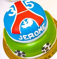Gâteaux personnalisés, Paris, Passion, Gourmandise, Anniversaire, Gâteau d'anniversaire, Cake design Paris, Birthday cake, Foot, Football, PSG, Sport