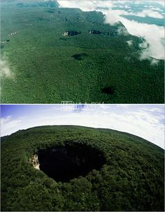 The mysterious holes of Sarisarinama, Venezuela