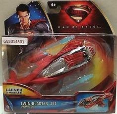 (TAS031383) - DC Comics Movie Character Superman Man of Steel - Twin Blaster Jet