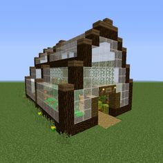 Adacia Greenhouse - GrabCraft - Your number one source for MineCraft buildings, blueprints, tips, ideas, floorplans! Construction Minecraft, Minecraft Farm, Modern Minecraft Houses, Minecraft Survival, Minecraft Castle, Minecraft Blueprints, Minecraft Crafts, Minecraft Architecture, Minecraft Buildings
