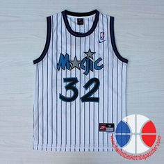 maillot de basket pas cher Orlando Magic O'Neal #32 Blanc mesh tissu