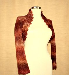 Brown Stripe Bolero knitting inspiration