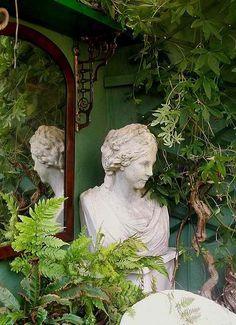 statuary in the garden