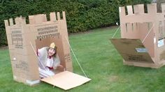 cardboard box castle. My daddy made me one of these when I was a kid, between him and my step dad it was a rockin' place!