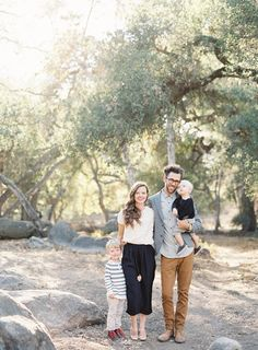 A family portrait of four | Photo by Jen Huang (jenhuangblog.com) | Family Photography Santa Barbara | Santa Ynez Family Photography