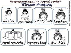 """Δραστηριότητες, εποπτικό και παιδαγωγικό υλικό για το Νηπιαγωγείο: Παιδιά με Ειδικές Ανάγκες στο Νηπιαγωγείο: Με αφορμή το ποίημα: """"Η Αργυρώ γελάει"""" Greek Language, Second Language, Children, Kids, Projects To Try, Teaching, Education, Blog, Diversity"""