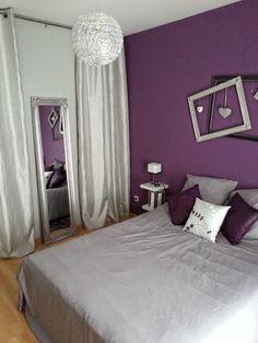 decoracion recamara cortinas grises buscar con google - Chambre Mauve Et Noir