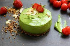 Avocado creamy cheesecake