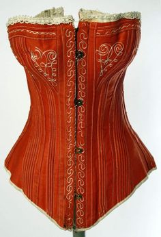 1880s red cotton corset via met museum 697x1024 8bea2