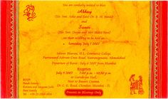 Yellow And Red Hindu Wedding Invitation Ideas (