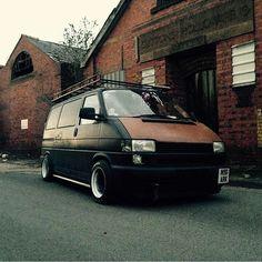 @kjrobbo1 's T4 Is Shit Cool #ModifiedVans #VW #VolksWagen #VeeDub #VDUB… Volkswagen Transporter T4, Volkswagen Bus, Vw T4 Tuning, T4 Camper, Rat Look, Vanz, Automotive Art, Future Car, Campervan