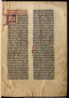 Gutenberg bible, Jerome's Epistle to Paulinus, Incipit, print on vellum  @ The British Library
