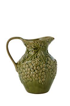 ELLOS HOME. Kanna Vienna.  Kanna av glaserad keramik med dekorativt reliefmönster. Stl 20x16 cm. Höjd 22 cm.  199 SEK