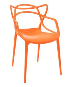 Take a look at this Orange Crawford Armchair on zulily today!