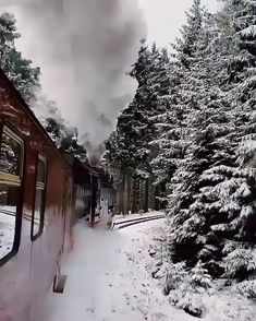 A magical train ride in Germany 😱😍 🎥: evolumina - beautiful Nature and Travel Videos Winter Szenen, Nature Photography, Travel Photography, Berlin Photography, Canon Photography, Photography Photos, Lifestyle Photography, Lifestyle Blog, Christmas Scenery
