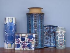 BLUE VISION: a small selection of midcentury Danish ceramics currently in store.