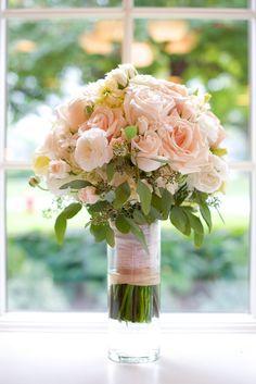 blush rose wedding bouquet