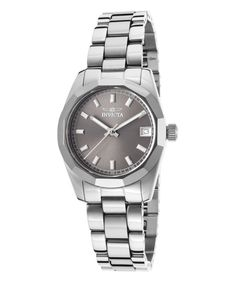 Look at this Invicta Stainless Steel & Gray Tungsten Bracelet Watch on #zulily today!