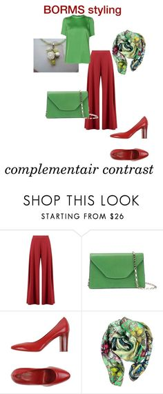 """complementair contrast"" by cat-line on Polyvore featuring mode, Boohoo, Valextra, Lorenzo Masiero en Lanvin"