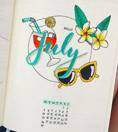 Bullet Journal Monthly Cover Ideas For Summer