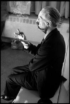 Marcel Duchamp in Andy Warhol's Studio, 1966.