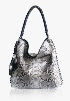 anthony luciano, handbag, black & white, python, exotic, fashion