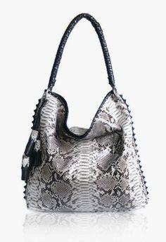 anthony luciano, handbag, black & white, python, exotic, fashion