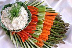 veggie dip recipe & display