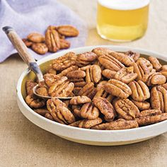 Chili Lime Pecans from Southern Living. Yum.